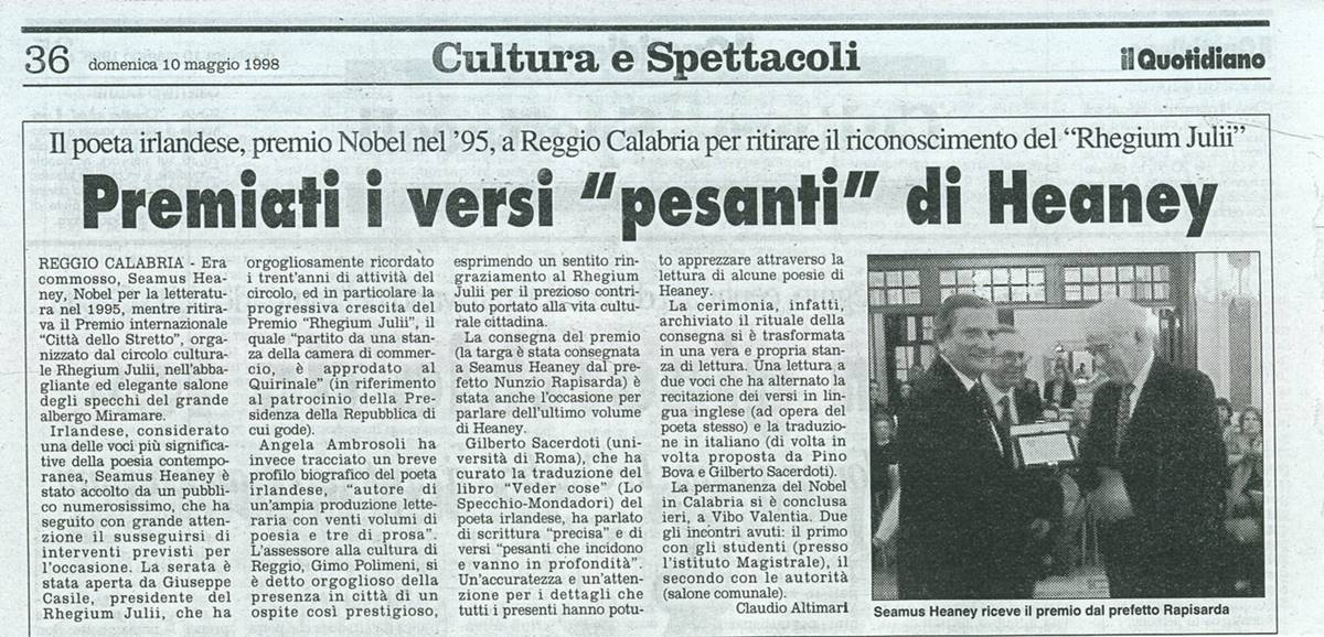 10.05.1998 Il quotidiano